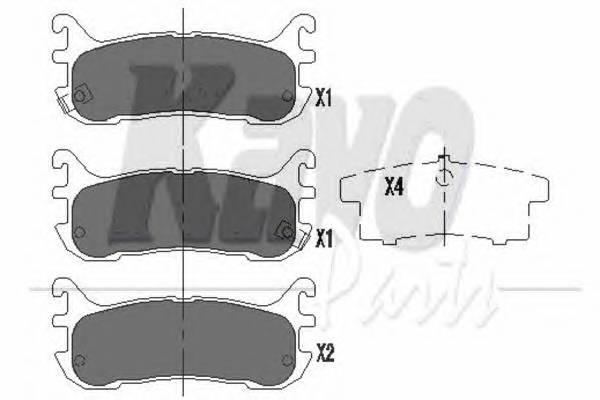 Тормозные колодки Тормозные колодки дисковые KAVOPARTS арт. KBP4539
