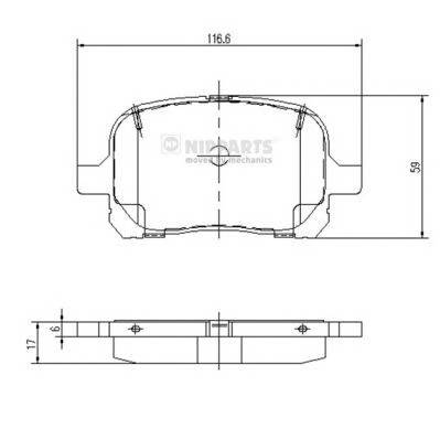 Тормозная система Гальмiвнi колодки, к-кт. PAGID арт. J3602081