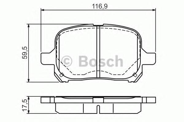 Тормозные колодки Тормозные колодки Bosch PAGID арт. 0986424639