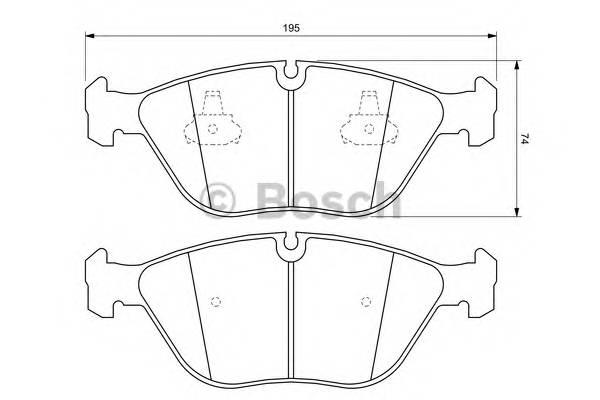 Тормозные колодки Тормозные колодки Bosch PAGID арт. 0986424649