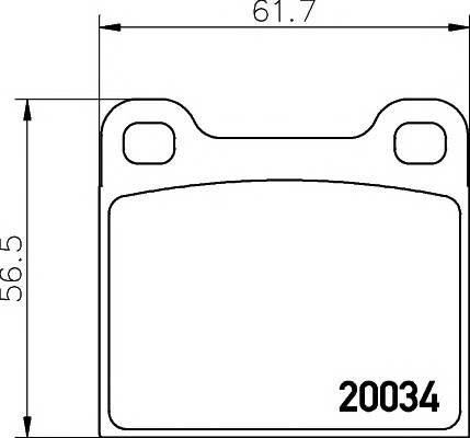 Тормозные колодки Тормозные колодки дисковые TEXTAR арт. 2003402