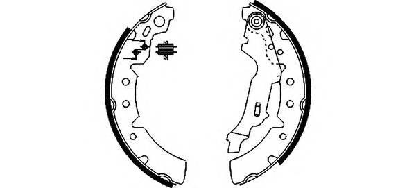 Тормозные колодки Тормозные колодки барабанные PAGID арт. 91056700