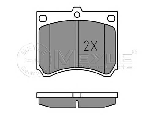 Тормозные колодки Тормозные колодки дисковые MEYLE арт. 0252153915