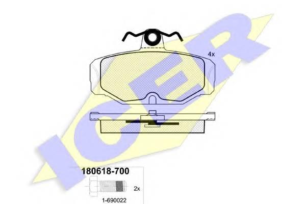 Тормозные колодки Тормозные колодки дисковые PAGID арт. 180618700