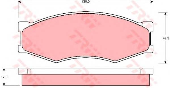 Тормозные колодки Тормозные колодки дисковые PAGID арт. GDB318