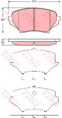 Тормозные колодки Тормозные колодки дисковые ABE арт. GDB3401