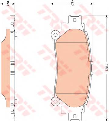 Тормозные колодки Тормозные колодки дисковые PAGID арт. GDB3497