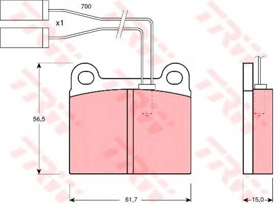 Тормозные колодки Тормозные колодки дисковые PAGID арт. GDB362