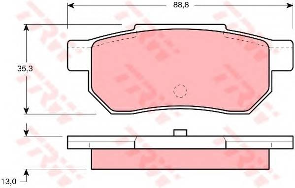 Тормозные колодки Тормозные колодки дисковые PAGID арт. GDB775