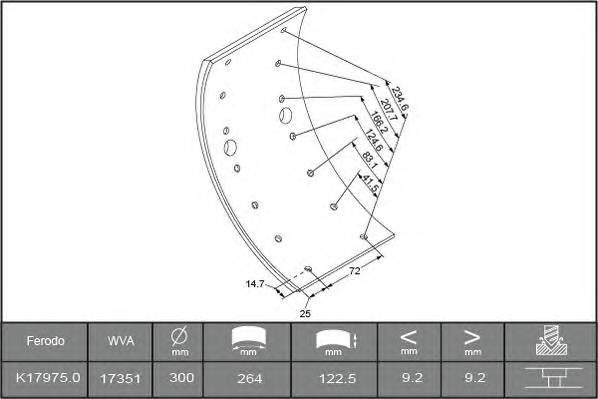 Тормозные колодки Гальмівні накладки BERAL арт. 1735109306015613