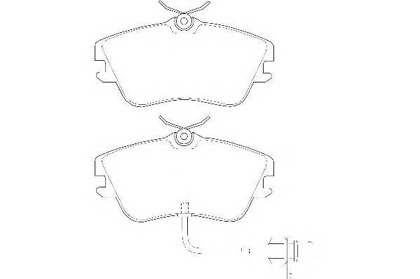 Тормозные колодки Тормозные колодки дисковые WAGNER арт. WBP21479B