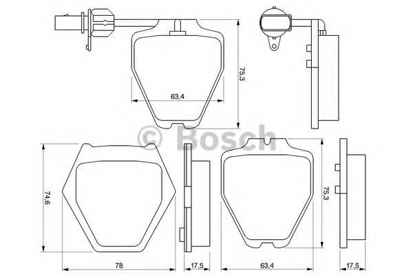 Тормозные колодки Тормозные колодки Bosch PAGID арт. 0986424690