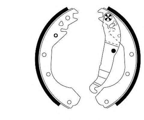 Тормозные колодки Тормозные колодки барабанные ABE арт. 91033200