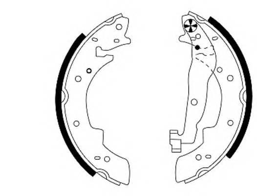 Тормозные колодки Тормозные колодки барабанные PAGID арт. 91033800