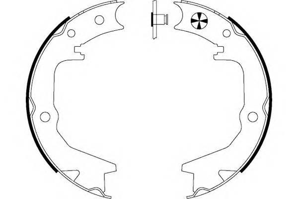 Тормозные колодки Тормозные колодки барабанные ABE арт. 91062900