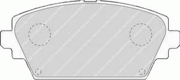 Тормозные колодки Тормозные колодки дисковые ABE арт. FDB1580