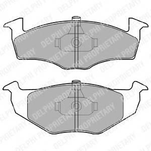 Гальмівні колодки, дискові PAGID арт. LP1601