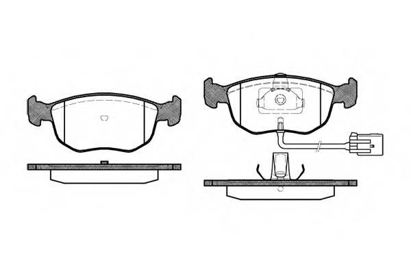 Тормозная система Гальмiвнi колодки, к-кт. PAGID арт. 257502