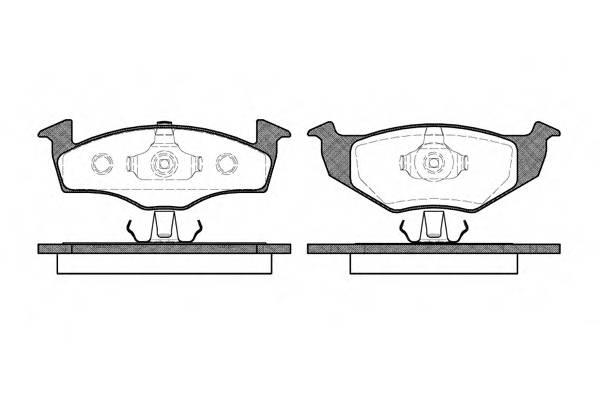 Тормозная система Гальмiвнi колодки, к-кт. PAGID арт. 260910