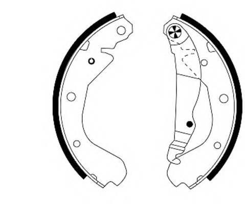 Тормозные колодки 200X45 Тормозные колодки PAGID арт. H8085