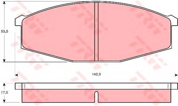 Тормозные колодки Тормозные колодки дисковые PAGID арт. GDB251