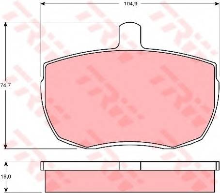 Тормозные колодки Тормозные колодки дисковые PAGID арт. GDB341