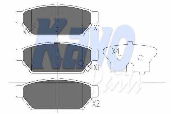 Тормозные колодки Тормозные колодки дисковые KAVOPARTS арт. KBP5510