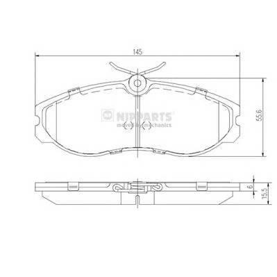 Тормозная система Гальмiвнi колодки, к-кт. ABE арт. J3601056