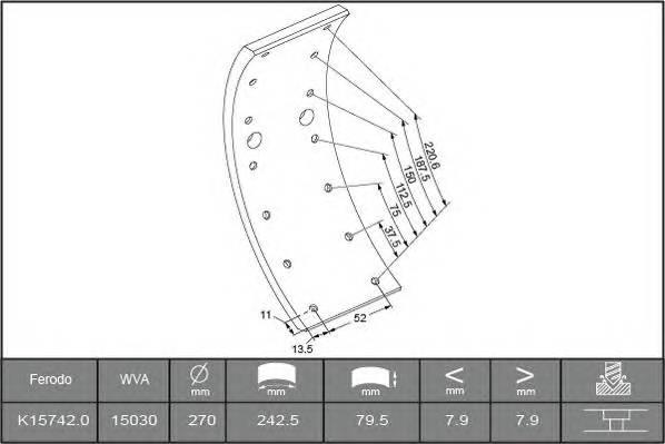 Тормозные колодки Гальмівні накладки BERAL арт. 1503008006015613