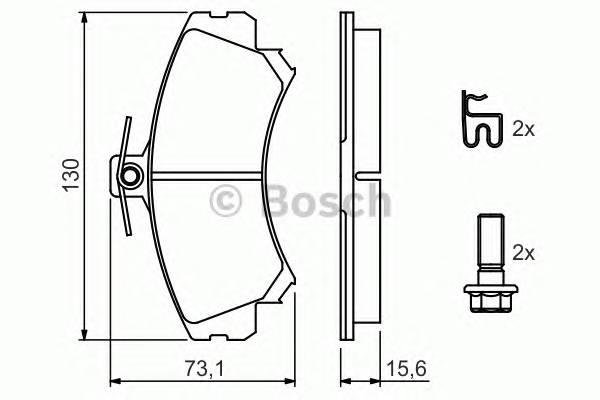 Тормозные колодки Тормозные колодки Bosch ABE арт. 0986424371