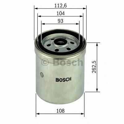 Топливные фильтры Топливный фильтр BOSCH арт. F026402017