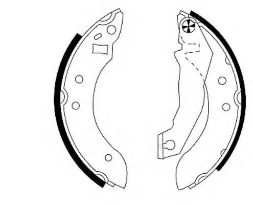 Тормозные колодки Тормозные колодки барабанные ABE арт. 91020700