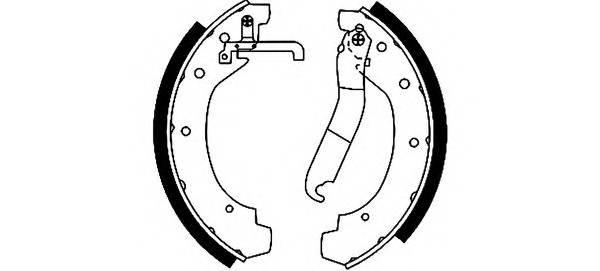 Тормозные колодки Тормозные колодки барабанные PAGID арт. 91028900