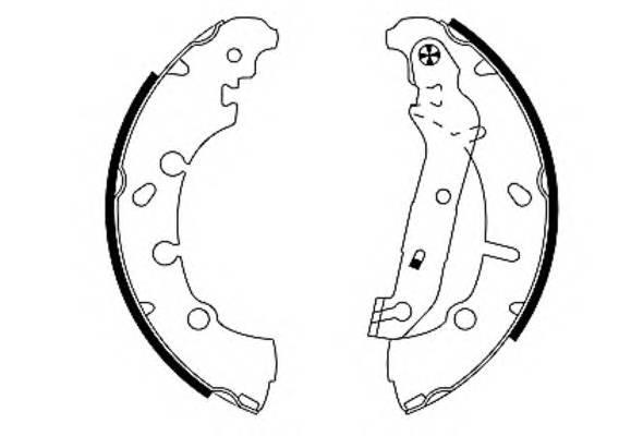 Тормозные колодки Тормозные колодки барабанные PAGID арт. 91057300