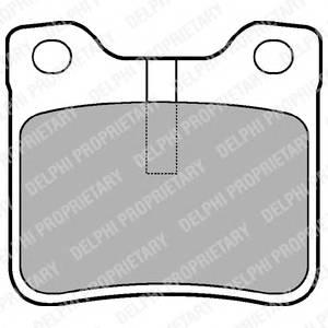 Гальмівні колодки, дискові PAGID арт. LP991