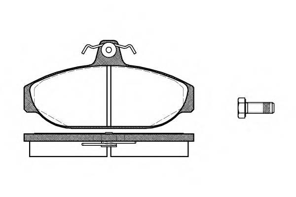 Тормозная система Гальмiвнi колодки, к-кт. PAGID арт. 215600