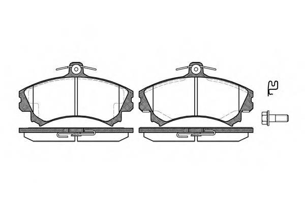 Тормозная система Гальмiвнi колодки, к-кт. PAGID арт. 259002