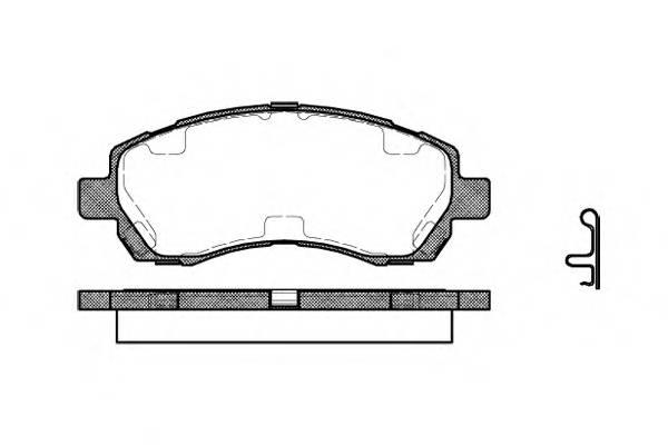 Тормозная система Гальмiвнi колодки, к-кт. PAGID арт. 264702
