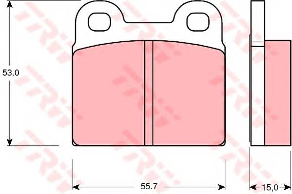 Тормозные колодки Тормозные колодки дисковые TRW арт. GDB102