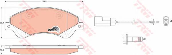 Тормозные колодки Тормозные колодки дисковые ABE арт. GDB1723