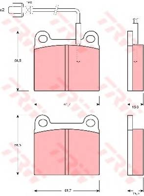Тормозные колодки Тормозные колодки дисковые PAGID арт. GDB240