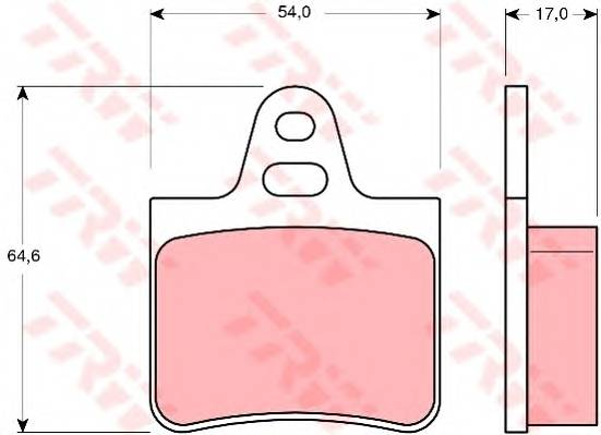 Тормозные колодки Тормозные колодки дисковые TRW арт. GDB263