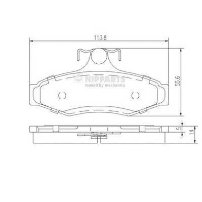 Тормозная система Гальмiвнi колодки, к-кт. PAGID арт. J3610901