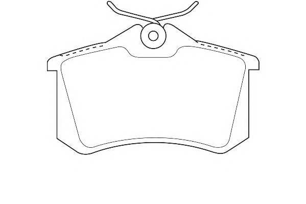 Тормозные колодки Тормозные колодки Wagner PAGID арт. WBP20961B