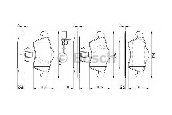 Тормозные колодки Тормозные колодки Bosch PAGID арт. 0986424537