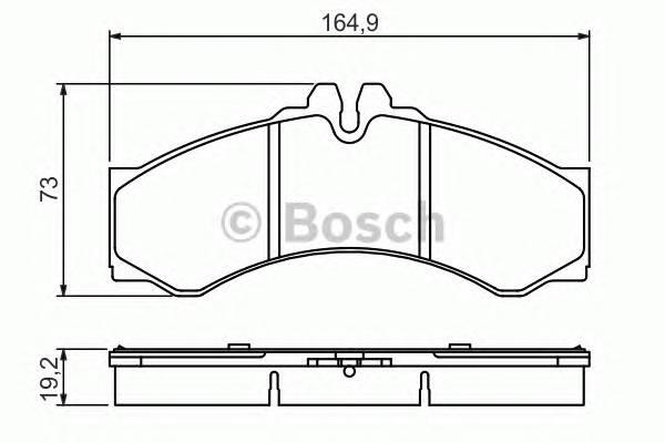Тормозные колодки Тормозные колодки Bosch PAGID арт. 0986424832