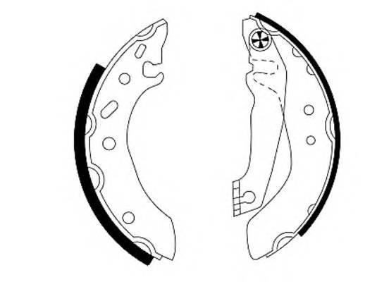 Тормозные колодки Тормозные колодки барабанные PAGID арт. 91043700