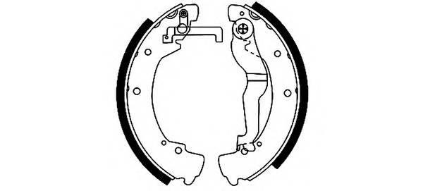 Тормозные колодки Тормозные колодки барабанные ABE арт. 91044600