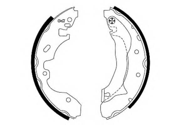 Тормозные колодки Тормозные колодки барабанные PAGID арт. 91049400