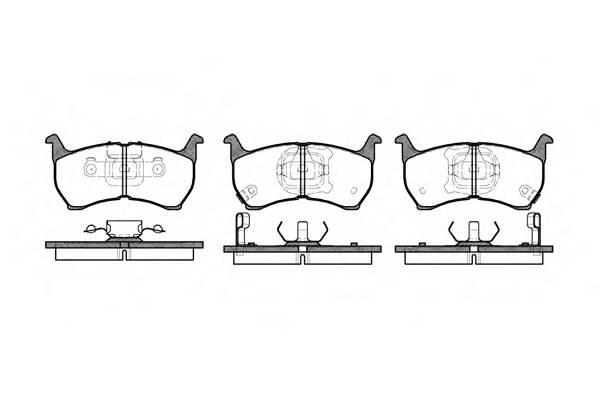 Тормозная система Гальмiвнi колодки, к-кт. ABE арт. 216402
